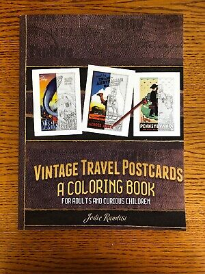 Cool Coloring Books For Adults (Vintage Travel Postcards Coloring Book For Adults- Jodie Randisi Cool)