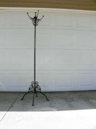 Antique Tree Stand, Rack, Hat Rack Japanned Copper 1910