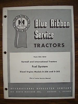 Ih Farmall International 460 560 660 D236 D282 Engine Fuel System Service Manual