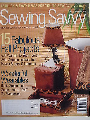 15 FABULOUS FALL PROJECTS September 2007 SEWING SAVVY Mag  WONDERFUL WEARABLES - Fall Projects