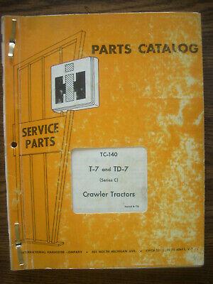 Ih Farmall Mccormick International T7 And Td7 Series C Crawler Parts Manual