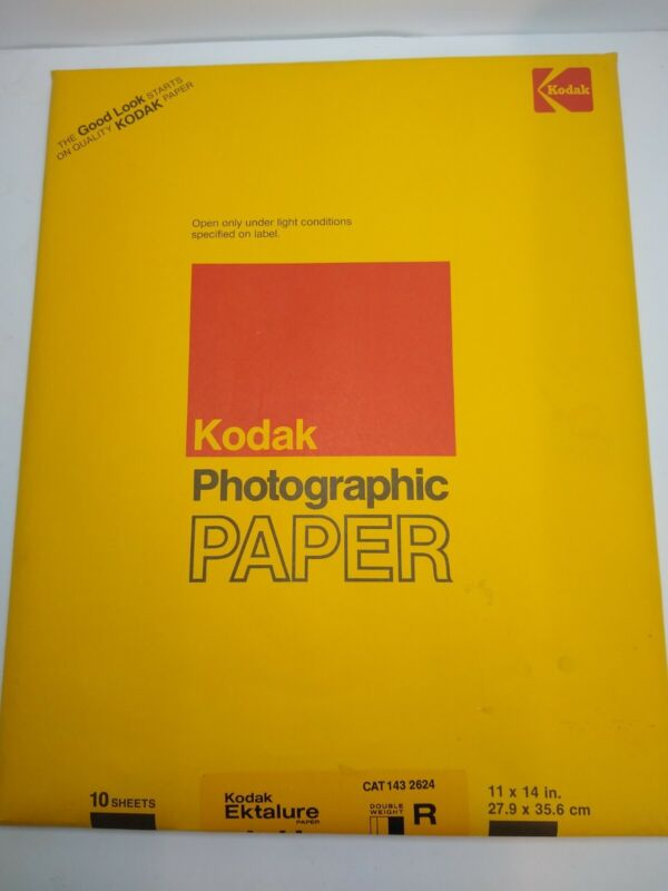 Vintage SEALED Kodak Photographic Paper 10 Sheets 11x14 Exp 1982 Double Weight
