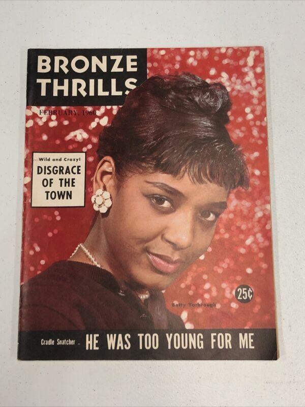 Bronze Thrills Magazine February 1960 Nice Shape