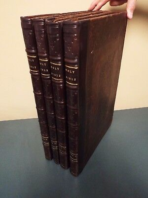 1701 William Lloyd - 4 Volume Lg.  Folio Bible - Bishop of Worcester- 1st BC use