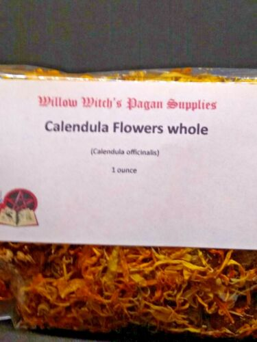 Calendula Flowers, Whole 1 ounce Hoodoo Wicca Witchcraft Pagan Voodoo