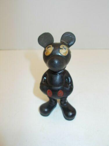 Vintage Seiberling Hard Rubber Walt Disney Mickey Mouse Toy Figure