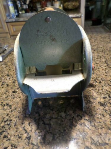 Vintage Nestor Johnson Card Shuffler USA Hand Crank