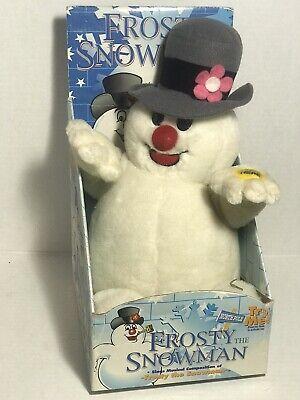 Vtg 1998 Frosty the Snowman Plush Gemmy Industries Singing Nelson Rollins 1374
