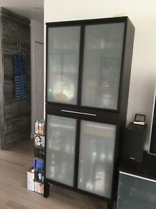 ARMOIRE IKEA BRUN-NOIR CONTEMPORAIN