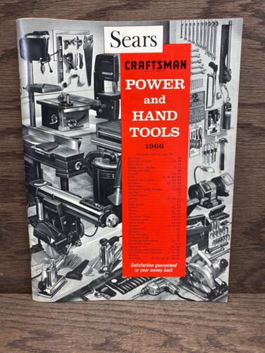 Vintage Sears Craftsman Catalog Power and Hand Tools 1966 FREE SHIPPING