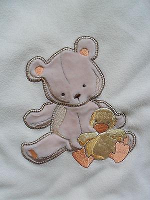 Little Me Bear Baby Blanket Fleece Security Blanket with Tan Bear/Yellow Chick