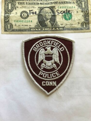 Very Rare Brookfield Connecticut Police Patch Un-sewn great shape
