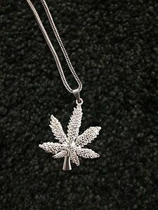 Stainless Leaf Pendant and Chain