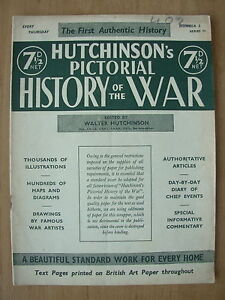 VINTAGE HUTCHINSONS PICTORIAL HISTORY OF THE WAR MAGAZINE WWII JULY 23rd 1941