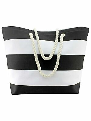 WIDE STRIPE DELUXE OVERSIZE BEACH TOTE BAG Deluxe Beach Tote Bag
