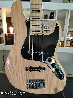 Fender American Elite Jazz Bass V Natural