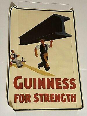 Guinness Beer For Strength Poster Print Retro c.1934 Art Bar Decor 20x30