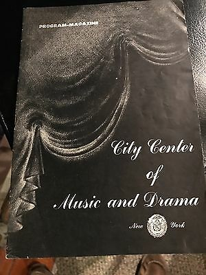 "PROGRAM NY CITY CENTER ""1944"" PORGY &BESS TOSCA,MARTHA CARMEN,"