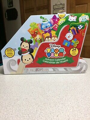 DISNEY TSUM TSUM by Jakks Pacific Christmas Sleigh Advent Calendar 31 Pieces NEW