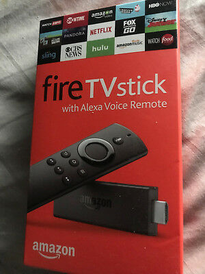New Amazon Fire TV Stick With Alexa Voice Remote Factory Sealed LY73PR