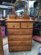 Nice tall boy dressing table draws with mirror Cranbourne Casey Area Preview