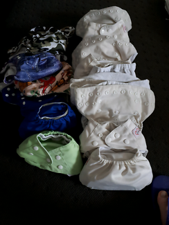 16 modern cloth nappies - used