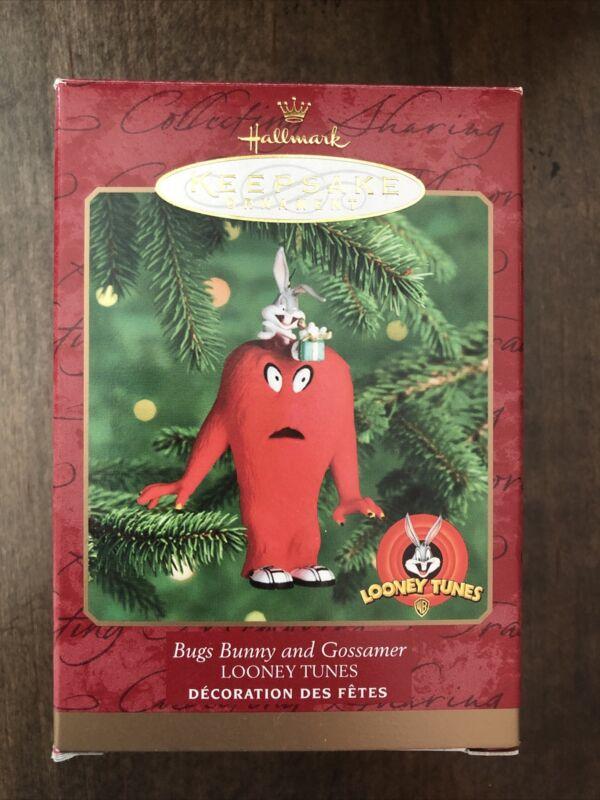 Vintage Hallmark Bugs Bunny and Gossamer Looney Tunes Keepsake Ornament 1999