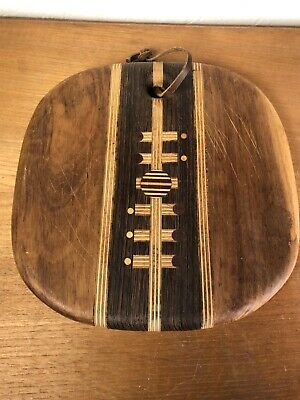 Don Shoemaker Mid Century Exotic Wood Cutting Board Serving Tray Modernist Senal