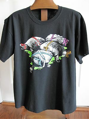 TeeFury Adult T-Shirt Real B&W Turtles with Teenage Mutant Ninja Weapons Size L
