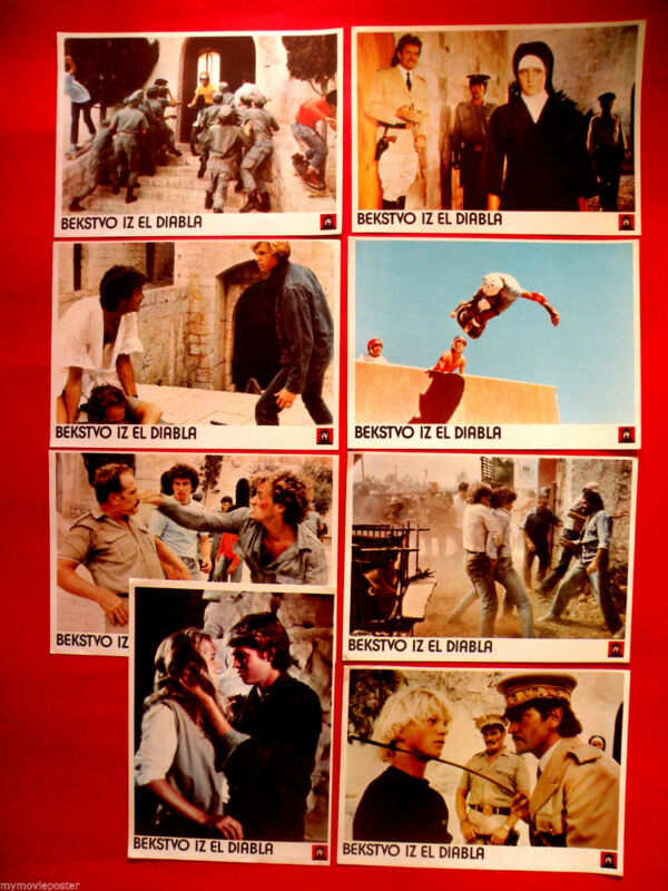 ESCAPE FROM EL DIABLO 1984 TIMOTHY VAN PATTEN UNIQUE RARE EXYU LOBBY CARDS