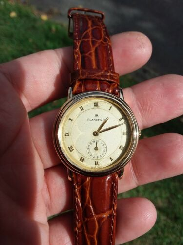 Blancpain Villeret Calender Automatic cal. 4795 18k Yellow Gold Watch Fix/Scrap - watch picture 1