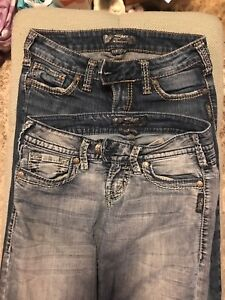 2 Pair Silver Tuesday jeans