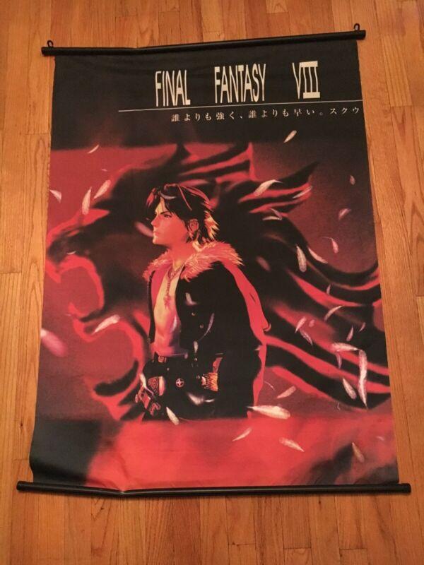 "Final Fantasy VIII Wall Scroll Poster Fabric Original Rare 31"" X43"""