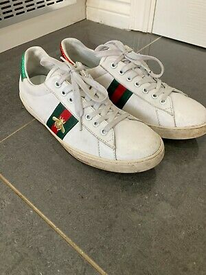 Gucci Bee Ace Sneakers Trainers Mens White Size 9