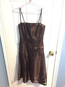 Chocolate brown cocktail dress