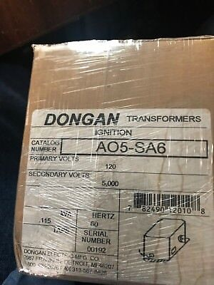 Dongan Ignition Transformer A05-sa6 120 Primary 60hz