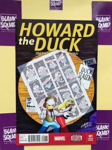 Howard the Duck #1  day of future past hommage sketch art cover