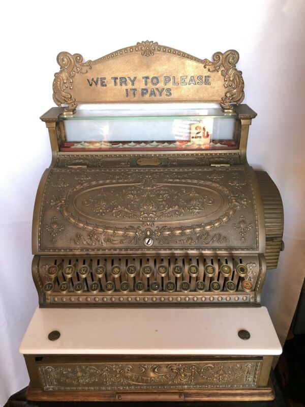Antique NATIONAL CASH REGISTER Brass