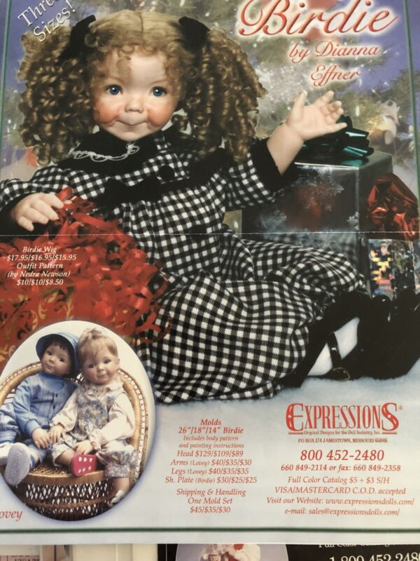 """26"""" Birdie Or Lovey Jumper Pattern For Expressions Molds By Dianna Effner"""