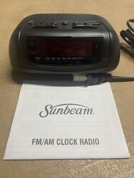 *NEW* Sunbeam Alarm Clock With FM/AM Radio Model Number: 89014