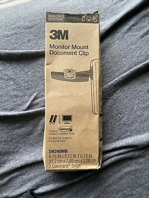 3m Monitor Mount Document Clip Dh240mb New