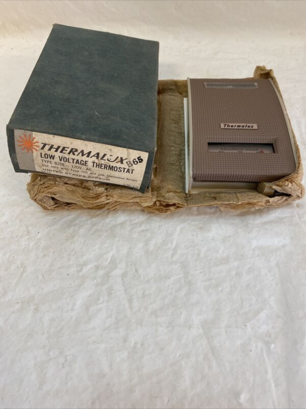 Vintage Retro Thermalux Low Voltage Thermostat Type 820E