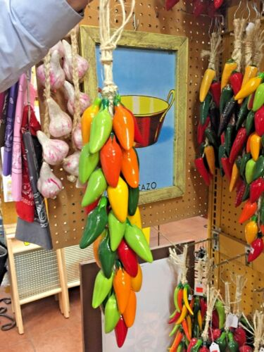 HANDMADE MEXICAN RISTRA OR STRING - JALAPENOS (B)  ***FREE FREIGHT***