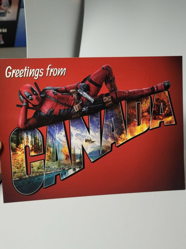 Target Exclusive Deadpool Movie Collectible Postcards New Unused Set Of 8