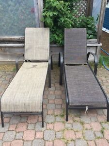 Outdoor lounging chairs