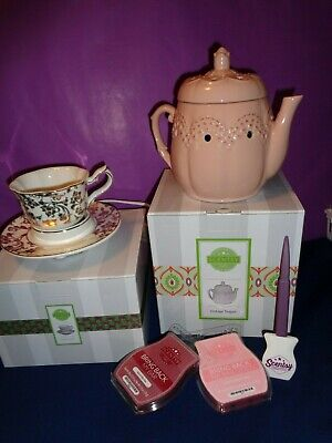 Scentsy Vintage TEAPOT & English BREAKFAST full size warmers plus bars & more