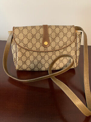 "Authentic Vintage Gucci Crossbody Bag. Clean Interior. Wear on Trim. 22"" Drop."