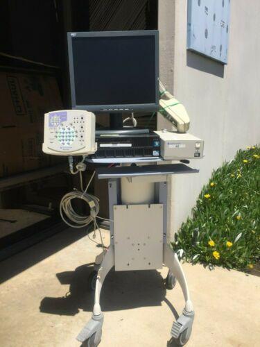 NIHON KOHDEN NEURO FAX 9000 EEG WITH JE-921 EEG/PSG  HEAD BOX