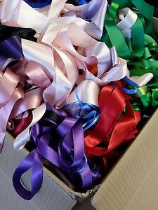 JOB LOT Assorted ribbon approx 1800 metres satin gros grain various colours 5kg