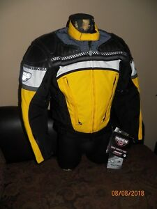 FIRST GEAR RACING HIGH PERFORMANCE MOTORCYCLE LEATHER-TEX JACKET MEN'S SZ SMALL
